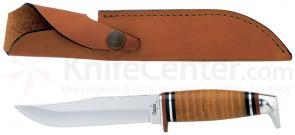 Case 5.0 inch Fixed Blade Leather Handle and Sheath 9.0 inch Overall 315-5 SS