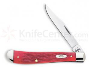 Case Dark Red CV Slimline Trapper 4-1/8 inch Closed (61048 CV)
