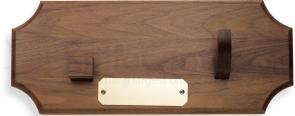 Case Bowie and Kodiak Presentation Plaque, Walnut Wood with Brass Engravable Plate