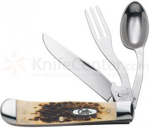 Case Amber Bone SS Hobo Knife 4-1/8 inch Closed (6354HB SS)