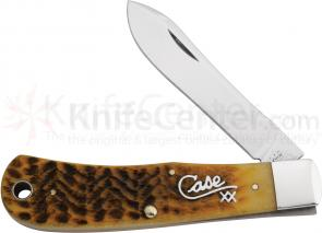 Case Silver Script Goldenrod Bone Backpocket Knife  4-5/8 inch Closed (TB61546 1/2 SS)