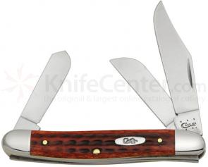 Case Pocket Worn Old Red Bone Stockman 3-3/16 inch Closed (6347 SS)