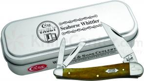 Case XX Vault Smooth Antique Bone Seahorse Whittler 4 inch Closed (6355WH SS)