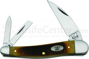 Case XX Vault Sawcut Jigged Antique Bone Seahorse Whittler 4 inch Closed (6355WH SS)