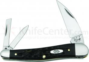 Case XX Vault Jigged Buffalo Horn Seahorse Whittler 4 inch Closed (BH355WH SS)