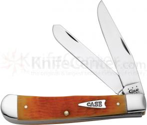 Case Orange Peel Bone Trapper 4-1/8 inch Closed (6254 SS)