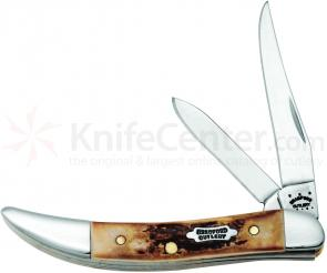 Case Bradford Cutlery Genuine Burnt Stag Small Texas Toothpick 3 inch Closed (520096 SS)