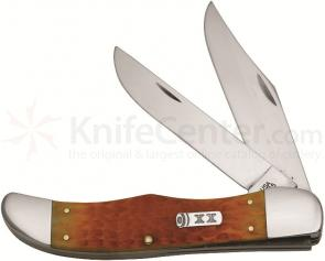 Case Persimmon Orange Bone Large Folding Hunter 5-1/4 inch Closed (6265 SS)