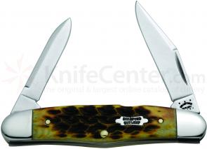 Case Bradford Cutlery Goldenrod Bone Humpback Half Whittler 3-5/8 inch Closed (620461∕2 SS)