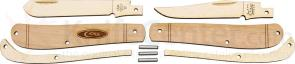 Case 207W Wooden Pocket Knife Kit, Mini Trapper, Gift Box/Tin