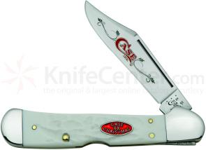Case XX Christmas Shield Rough Jigged Synthetic CopperLock 4-1/4 inch Closed (61549L SS)