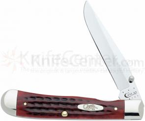 Case Knives Pocket Worn Old Red Bone TrapperLock 4-1/8 inch Closed (6154L SS)