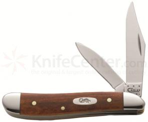 Case Smooth Chestnut Bone Peanut 2-7/8 inch Closed (6220 SS)
