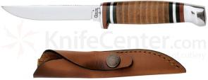 Case Leather Hunter 3-1/8 inch Mirror-Polished Fixed Blade (M3FINN SS)