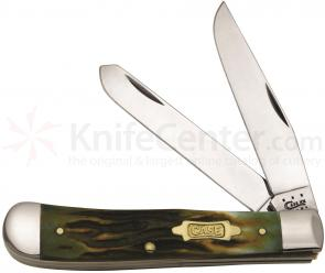Case Worm Groove Burnt Moss Bone Trapper 4-1/8 inch Closed (6254 SS)
