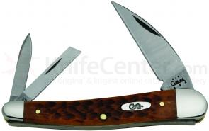 Case Standard Jigged Caramel Bone Seahorse Whittler 4 inch Closed (6355WH SS)