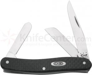 Case Carbon Fiber Medium Stockman 3-5/8 inch Closed (10318 SS)