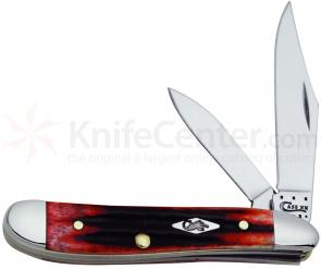 Case Second Cut Crimson Bone Peanut 2-7/8 inch Closed (6220 SS)