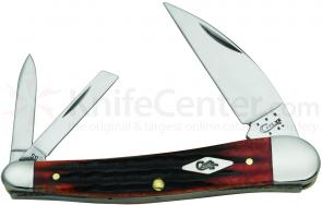 Case Second Cut Crimson Bone Seahorse Whittler 4 inch Closed (6355WH SS)