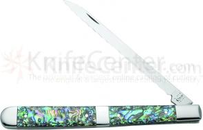 Case Melon Tester Portable Steak Knife 5-1/2 inch Smooth Abalone Handles (8100 SS)