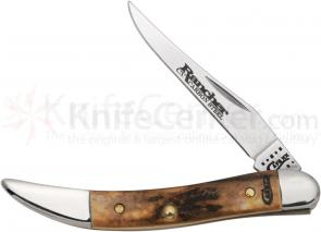 Case Small Texas Toothpick 3 inch Genuine Burnt Stag Handles (510096 CV)