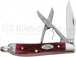 Case Magenta Bone Peanut with Bail 2-7/8 inch Closed (6220RSC SS)