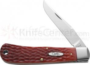 Case Tony Bose BackPocket Folding 3-1/2 inch Plain Blade, Standard Red Jigged Bone Handles (TB61546 SS)