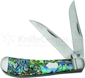 Case Tony Bose Genuine Abalone Wharncliffe Trapper 3-5/8 inch Closed (TB822013 154-CM)