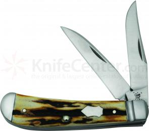 Case Tony Bose Genuine Burnt Stag Wharncliffe Trapper 3-5/8 inch Closed (TB522013 154-CM)