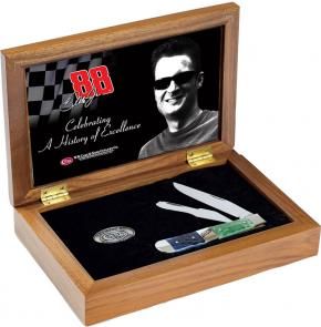 Case Dale Earnhardt, Jr Commemorative Trapper 4-1/8 inch Closed 6254 SS Wood Gift Box