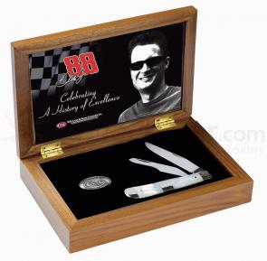 Case Dale Earnhardt, Jr® Commemorative Trapper 4-1/8 inch Closed (8254 SS) Wood Gift Box