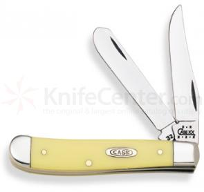 Case Yellow Synthetic Mini Trapper 3-1/2 inch Closed (3207 CV)