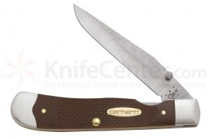 Case Carhartt Rugged  inchDuck inch G-10 TrapperLock with Clip 4-1/8 inch Closed (10154LC SS)