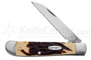 Case Carhartt Double-Dyed Synthetic Wharncliffe Mini Trapper 3-1/2 inch Closed (6107W SS)