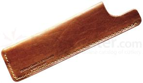 Chicago Comb English Tan Horween Leather Sheath, Regular Size
