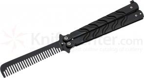 Ronin Gear Balisong Butterfly Comb Trainer, 5 inch Closed, Matte Black
