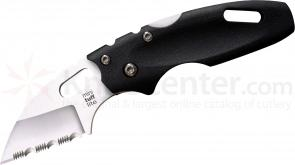 Cold Steel 20MTS Mini Tuff Folding Knife 2 inch Serrated Blade, Grivory Handles