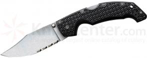 Cold Steel 29TLCH Large Voyager 4 inch Stonewash Combo Clip Point Blade, Grivory Handles