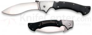 Cold Steel Rajah I Folder Knife 6 inch Kukri Style Blade with Aluminum and G10 Handle Scales