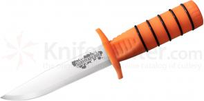 Cold Steel Survival Edge 5 inch German 4116 Stainless Steel Blade, Orange Polypropylene Handle with Survival Kit