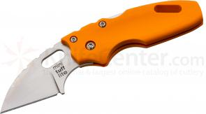 Cold Steel 20MTRY Mini Tuff Folding Knife 2 inch Plain Blade, Orange Grivory Handles