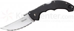 Cold Steel 21TTL Talwar Folding Knife 4 inch Serrated Blade, G10 Handles