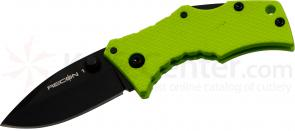 Cold Steel 27TDSG Micro Recon 1 Spear Point 2 inch AUS8 Plain Blade, Green G10 Handles