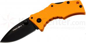 Cold Steel 27TDSRY Micro Recon 1 Spear Point 2 inch AUS8 Plain Blade, Orange G10 Handles