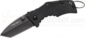 Cold Steel 27TDT Micro Recon 1 Tanto 2 inch AUS8 Plain Blade, G10 Handles