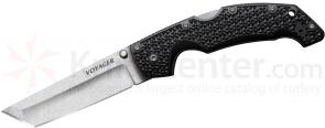 Cold Steel 29TLCT Large Voyager Tanto 4 inch CTS-BD1 Stonewash Plain Blade, Griv-Ex Handles