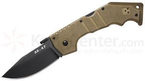 Cold Steel 58TLAKVB Limited Edition AK-47 Folding Knife 3.5 inch CTS-XHP Blade, Coyote Brown G10 Handles