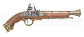 Spanish Made Pirate Flintlock Pistol With Brass Finish