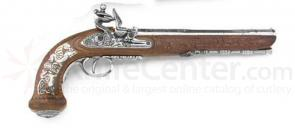 Classic French Dueling Pistol (Silver)