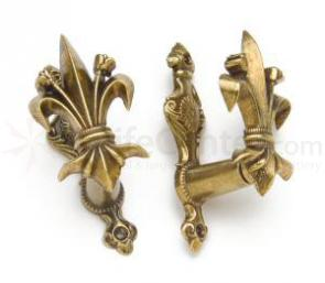 Gun Or Sword Hangers With Fleur De Lis Design